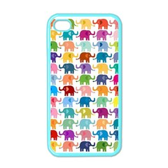 Cute Colorful Elephants Apple Iphone 4 Case (color) by Brittlevirginclothing