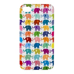 Cute Colorful Elephants Apple Iphone 4/4s Hardshell Case by Brittlevirginclothing