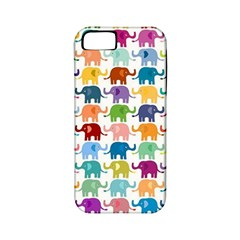 Cute Colorful Elephants Apple Iphone 5 Classic Hardshell Case (pc+silicone) by Brittlevirginclothing