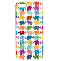 Cute Colorful Elephants Apple Iphone 5 Hardshell Case With Stand by Brittlevirginclothing