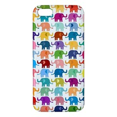 Cute Colorful Elephants Apple Iphone 5 Premium Hardshell Case by Brittlevirginclothing