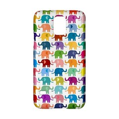 Cute Colorful Elephants Samsung Galaxy S5 Hardshell Case  by Brittlevirginclothing