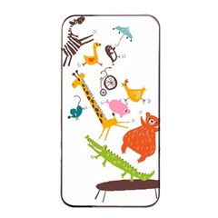 Cute Cartoon Animals Apple Iphone 4/4s Seamless Case (black) by Brittlevirginclothing