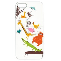 Cute Cartoon Animals Apple Iphone 5 Hardshell Case With Stand by Brittlevirginclothing