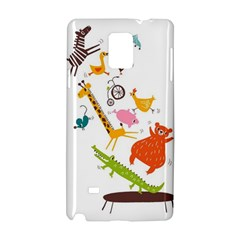 Cute Cartoon Animals Samsung Galaxy Note 4 Hardshell Case by Brittlevirginclothing