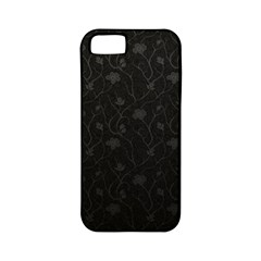 Dark Silvered Flower Apple Iphone 5 Classic Hardshell Case (pc+silicone) by Brittlevirginclothing