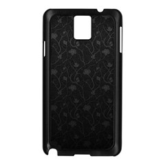 Dark Silvered Flower Samsung Galaxy Note 3 N9005 Case (black) by Brittlevirginclothing