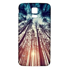 Up View Forest Samsung Galaxy S5 Back Case (white) by Brittlevirginclothing