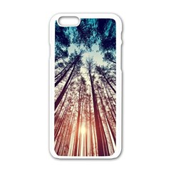 Up View Forest Apple Iphone 6/6s White Enamel Case by Brittlevirginclothing