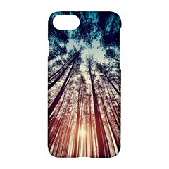 Up View Forest Apple Iphone 7 Hardshell Case by Brittlevirginclothing