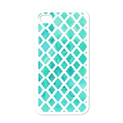 Blue Mosaic  Apple Iphone 4 Case (white) by Brittlevirginclothing