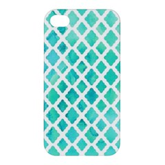 Blue Mosaic  Apple Iphone 4/4s Hardshell Case by Brittlevirginclothing