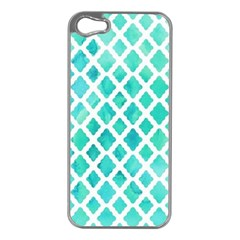 Blue Mosaic  Apple Iphone 5 Case (silver) by Brittlevirginclothing