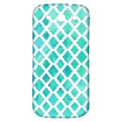 Blue Mosaic  Samsung Galaxy S3 S Iii Classic Hardshell Back Case by Brittlevirginclothing