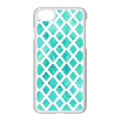 Blue Mosaic  Apple Iphone 7 Seamless Case (white) by Brittlevirginclothing