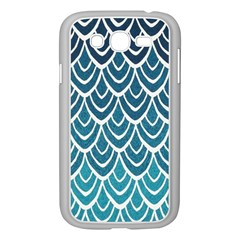 Blue Fish Sclaes  Samsung Galaxy Grand Duos I9082 Case (white) by Brittlevirginclothing