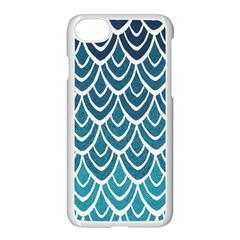 Blue Fish Sclaes  Apple Iphone 7 Seamless Case (white) by Brittlevirginclothing