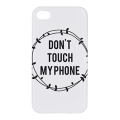 Don t Touch My Phone Apple Iphone 4/4s Premium Hardshell Case by Brittlevirginclothing