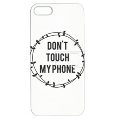 Don t Touch My Phone Apple Iphone 5 Hardshell Case With Stand by Brittlevirginclothing
