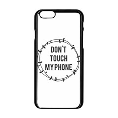 Don t Touch My Phone Apple Iphone 6/6s Black Enamel Case by Brittlevirginclothing