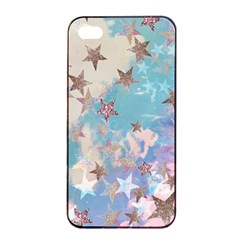 Pastel Stars Apple Iphone 4/4s Seamless Case (black) by Brittlevirginclothing