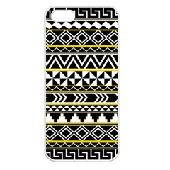 Black Bohemian Apple Iphone 5 Seamless Case (white) by Brittlevirginclothing