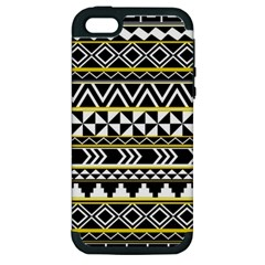 Black Bohemian Apple Iphone 5 Hardshell Case (pc+silicone) by Brittlevirginclothing