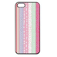 Pastel Colored  Wood Apple Iphone 5 Seamless Case (black) by Brittlevirginclothing