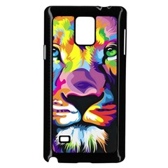 Colorful Lion Samsung Galaxy Note 4 Case (black) by Brittlevirginclothing