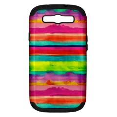Painted Wet Paper Samsung Galaxy S Iii Hardshell Case (pc+silicone)