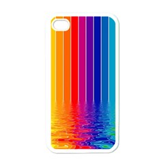 Faded Rainbow Apple Iphone 4 Case (white) by Brittlevirginclothing