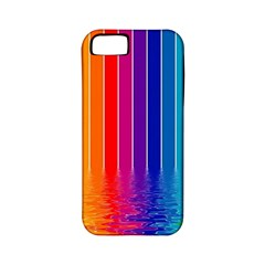 Faded Rainbow Apple Iphone 5 Classic Hardshell Case (pc+silicone) by Brittlevirginclothing