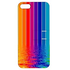 Faded Rainbow Apple Iphone 5 Hardshell Case With Stand by Brittlevirginclothing