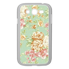 Vintage Pastel Flowers Samsung Galaxy Grand Duos I9082 Case (white) by Brittlevirginclothing