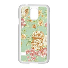 Vintage Pastel Flowers Samsung Galaxy S5 Case (white) by Brittlevirginclothing