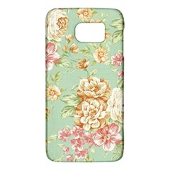Vintage Pastel Flowers Galaxy S6 by Brittlevirginclothing