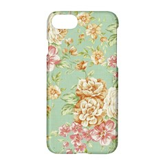 Vintage Pastel Flowers Apple Iphone 7 Hardshell Case by Brittlevirginclothing