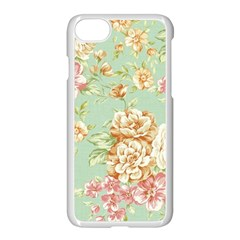Vintage Pastel Flowers Apple Iphone 7 Seamless Case (white) by Brittlevirginclothing