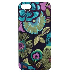 Dark Lila Flowers Apple Iphone 5 Hardshell Case With Stand by Brittlevirginclothing