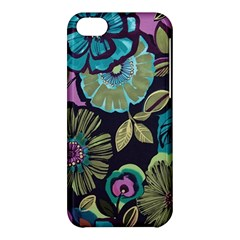 Dark Lila Flowers Apple Iphone 5c Hardshell Case by Brittlevirginclothing