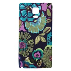 Dark Lila Flowers Galaxy Note 4 Back Case by Brittlevirginclothing