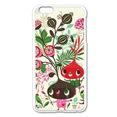Cute Cartoon Characters Apple Iphone 6 Plus/6s Plus Enamel White Case by Brittlevirginclothing