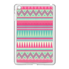 Cute Pink Bohemian Apple Ipad Mini Case (white) by Brittlevirginclothing