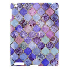 Blue Moroccan Mosaic Apple Ipad 3/4 Hardshell Case by Brittlevirginclothing
