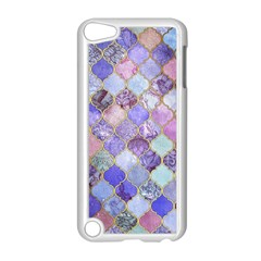 Blue Moroccan Mosaic Apple Ipod Touch 5 Case (white) by Brittlevirginclothing