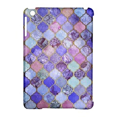 Blue Moroccan Mosaic Apple Ipad Mini Hardshell Case (compatible With Smart Cover) by Brittlevirginclothing