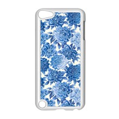 Blue Flower Apple Ipod Touch 5 Case (white) by Brittlevirginclothing