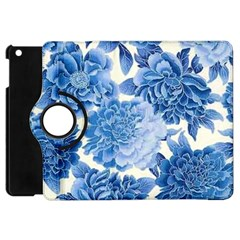 Blue Flower Apple Ipad Mini Flip 360 Case by Brittlevirginclothing