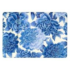 Blue Flower Samsung Galaxy Tab 10 1  P7500 Flip Case by Brittlevirginclothing