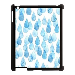 Rain Drops Apple Ipad 3/4 Case (black) by Brittlevirginclothing